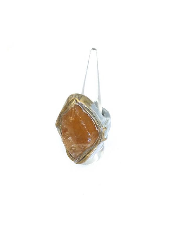 Adina Mills Orange Calcite Ring