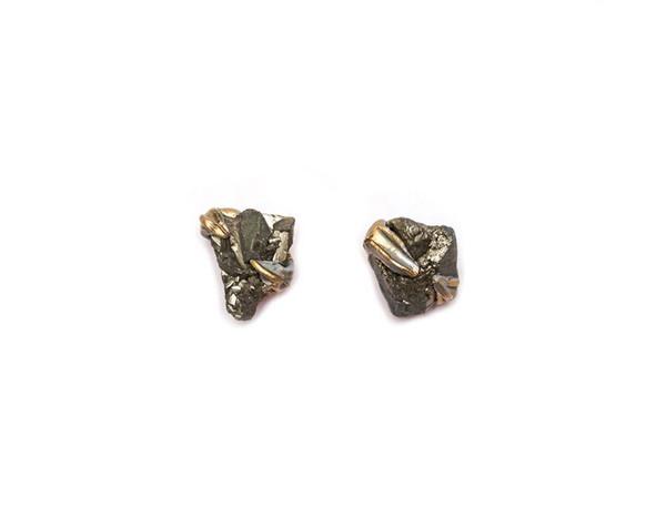 Adina Mills Pyrite Stud Earrings