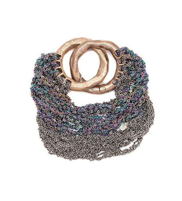 Arielle De Pinto Multi Tress Bracelet in Spectrum + Faded Silver
