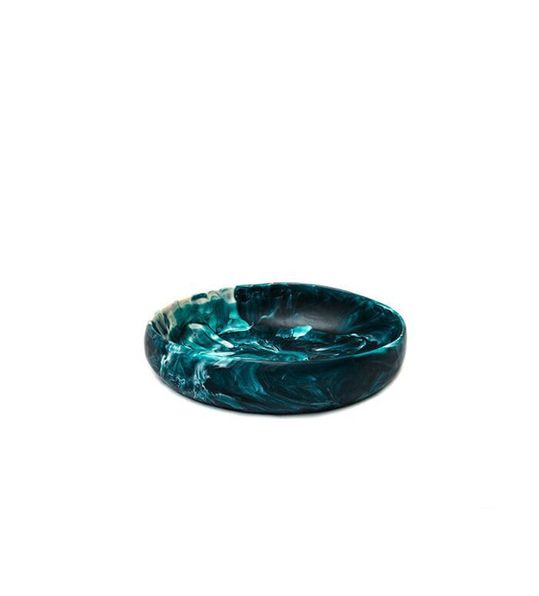 Dinosaur Designs Small Earth Bowl in Moody Blue Swirl