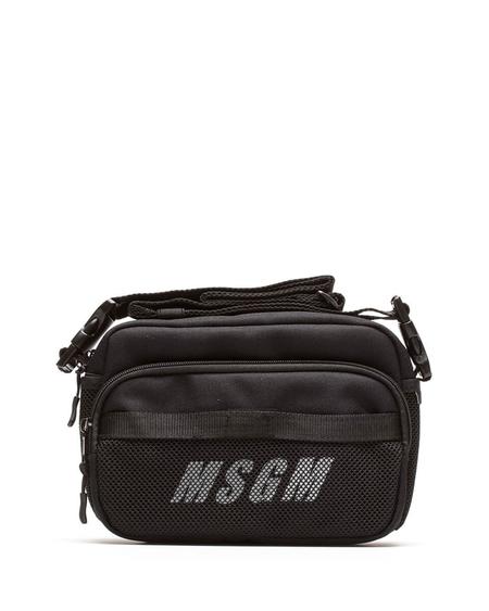 MSGM Logo Shoulder Bag - Black