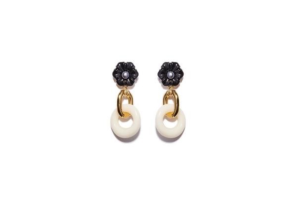 Lizzie Fortunato Black Dahlia Earrings