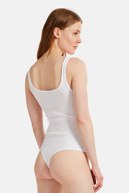 The Range Stark Knit Tank Bodysuit - White