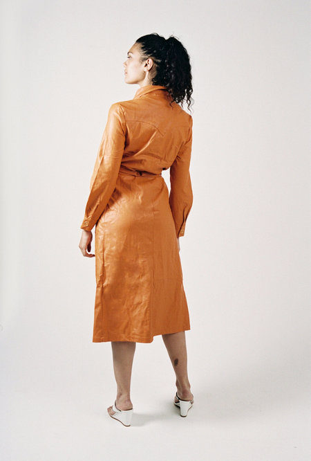 HOUSE OF SUNNY Balearic Shirt dress - Orange