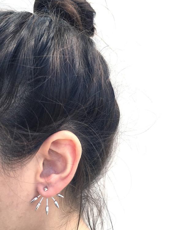 Pamela Love 5 Spike Ear Jacket in Sterling Silver