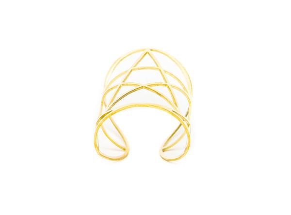 Pamela Love Mini Pentagram Cuff in Gold