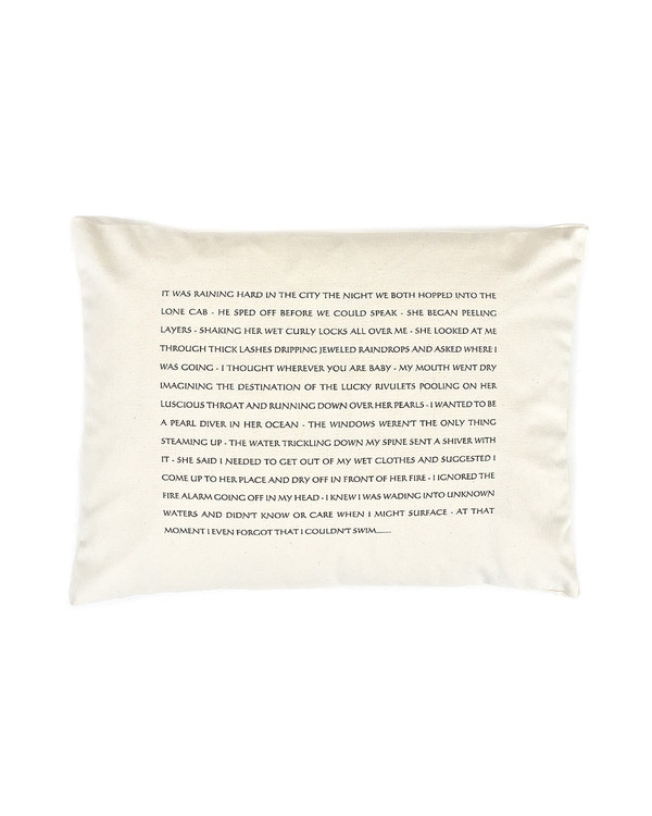 Pulpoetry Taxi Pillow by Barbara Hill