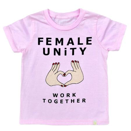 Kids Atsuyo Et Akiko Child Female Unity T-shirt - Pink