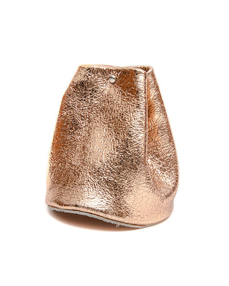 Tracey Tanner Medium Closed Basket in Distressed Rose Gold