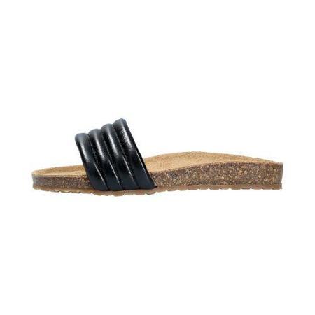 Kids lmdi collection cork sandals - black