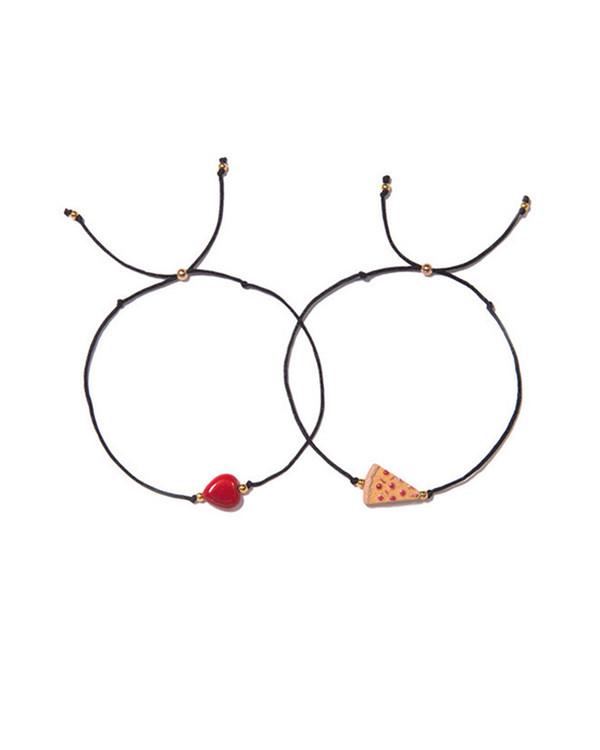 Venessa Arizaga Have a Pizza My Heart Bracelet Set