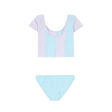 Kids Pacific Rainbow Sally Two-Piece Swimsuit - Lilac/Celestial Blue