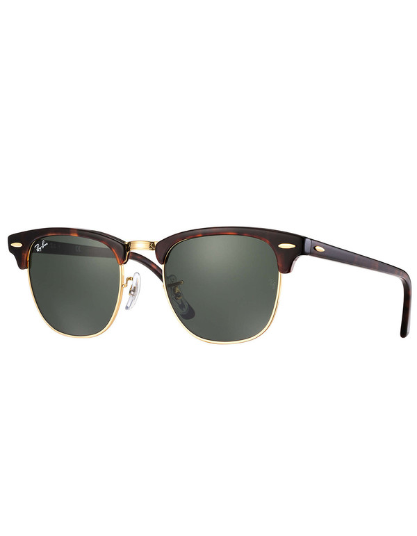 Ray-Ban Clubmaster Sunglasses Tortoise Green Classic G-15