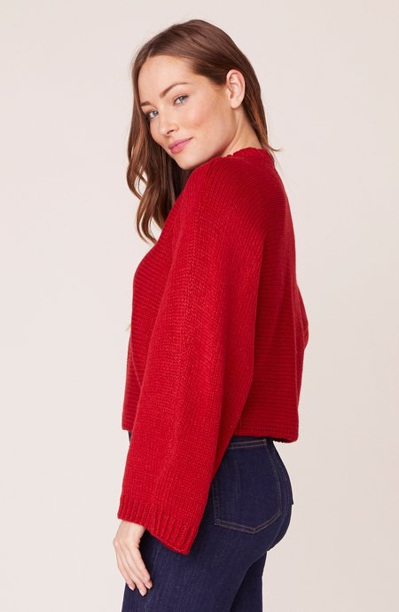 Jack Neck Yourself Sweater - Apple Red