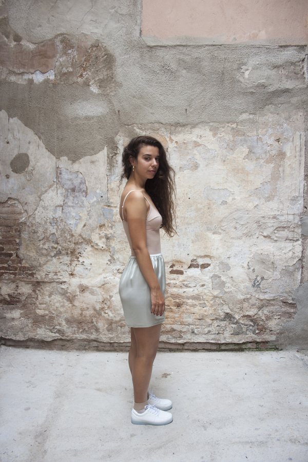 Baserange Azour Short – Light Silk Satin