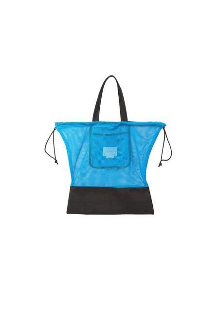 Neul Drawstring Mesh Bucket Bag - Ibiza Blue/Black