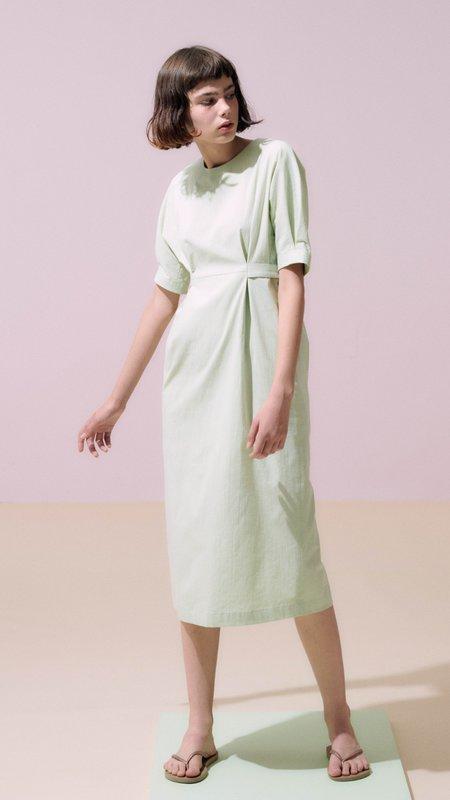 Neul High Waist Dolman Sleeve Dress - Lime Cream