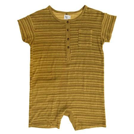 kids Nico Nico Baby And Child Spiro Striped Romper - Chartreuse Yellow