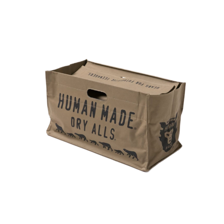 Human Made Logo Box Tote Bag - Olive Drab
