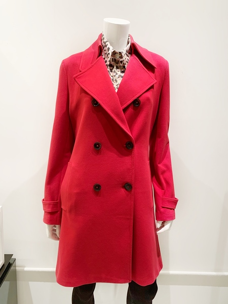 Circolo 1901 cotton stretch trench coat - red
