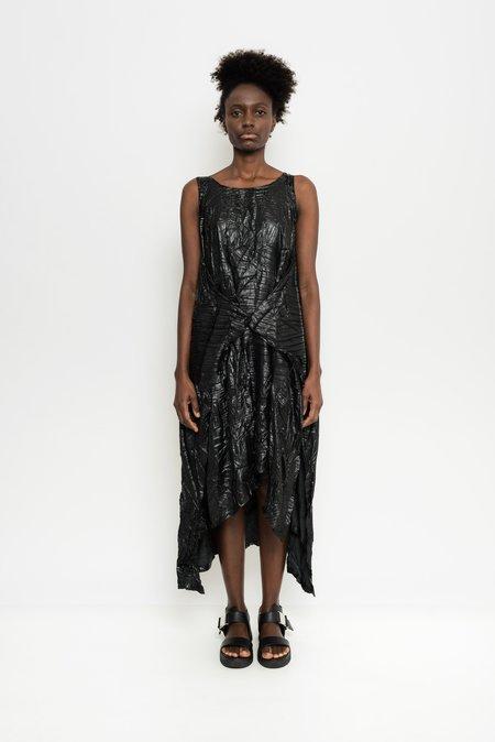 Uma Raquel Davidowicz Sleeveless Metallized Pleated Dress Barka - Black