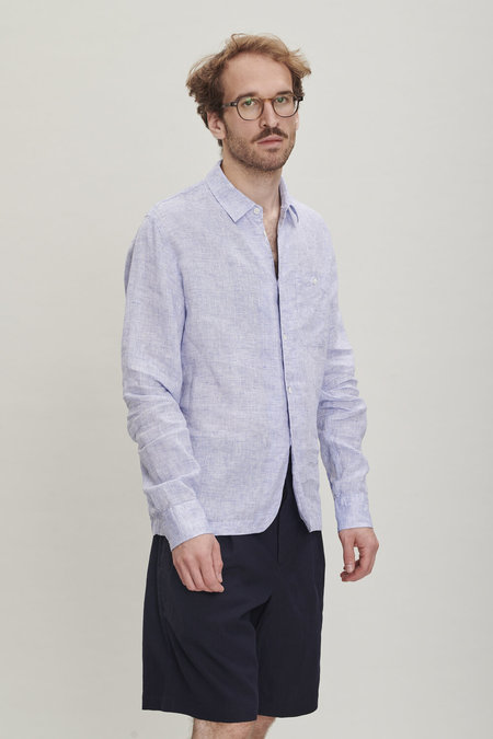 Delikatessen Linen Strong Shirt - Light Blue
