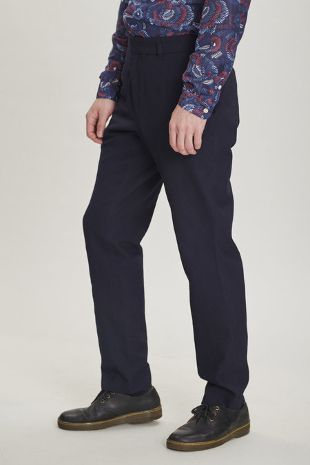 Delikatessen Merino Wool Trousers - Navy