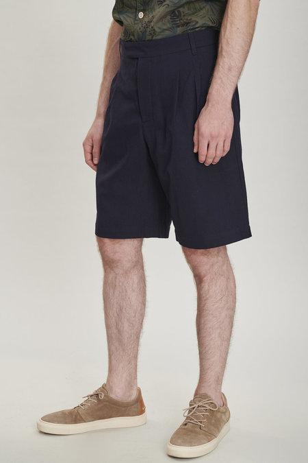 Delikatessen Merino Wool Bermuda Shorts - Navy