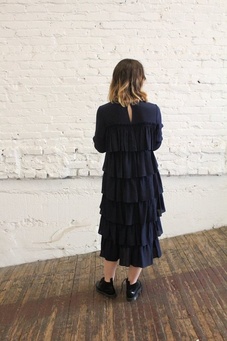 WHiT Agatha Dress - NAVY BLUE