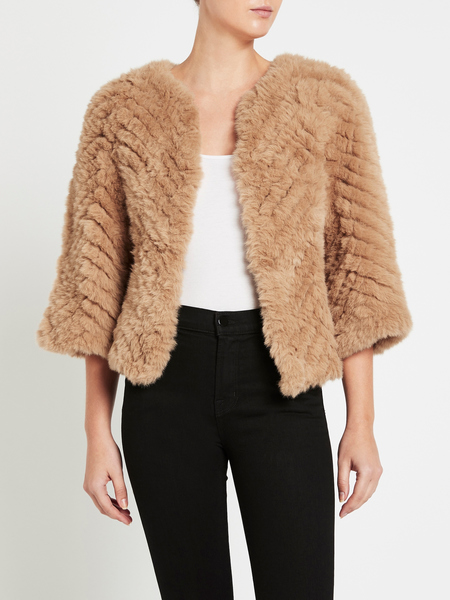 H Brand Jagger Faux Fur Jacket - Tan