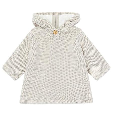 Bonton Baby Malo Burnous Sweater Dulce De Leche - Brown