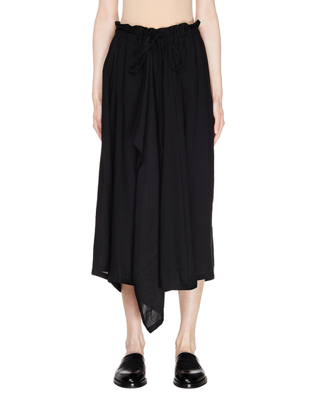 Y's Black Cropped Trousers