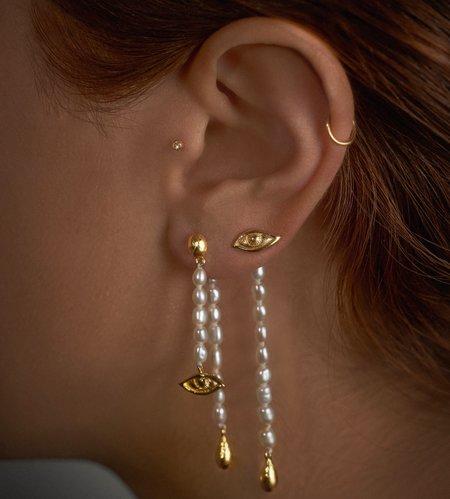 Pamela Love Crying Eye Ear Jacket - Sterling Silver