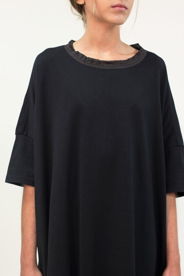 Universal Tissu Oversized Cotton Dress- Black
