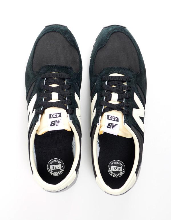 Men's New Balance 420 Heritage 70s Collection Sneaker Black Grey