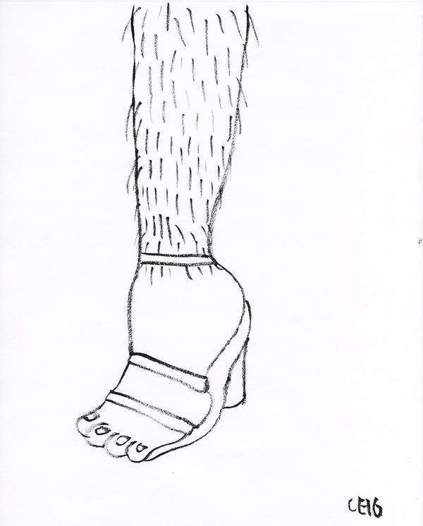Camilla Engstrom Hairy leg
