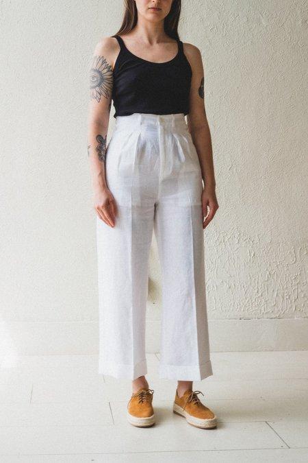 Town Clothes PONTOISE LINEN PANT - MAGNOLIA