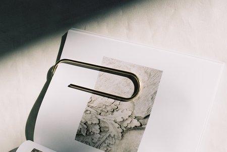 Carl Auböck Large Paperclip Bookmark - Brass