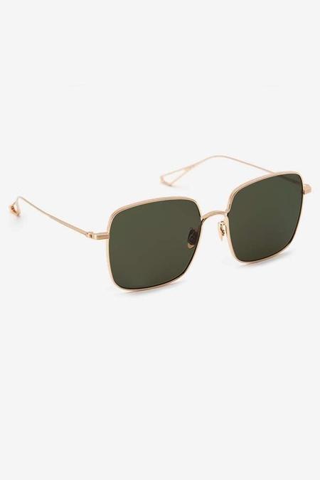 Krewe Eve Glasses - 24K Titanium Green