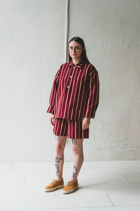 BODE PULLOVER - BURGUNDY COUNTRY CLOTH