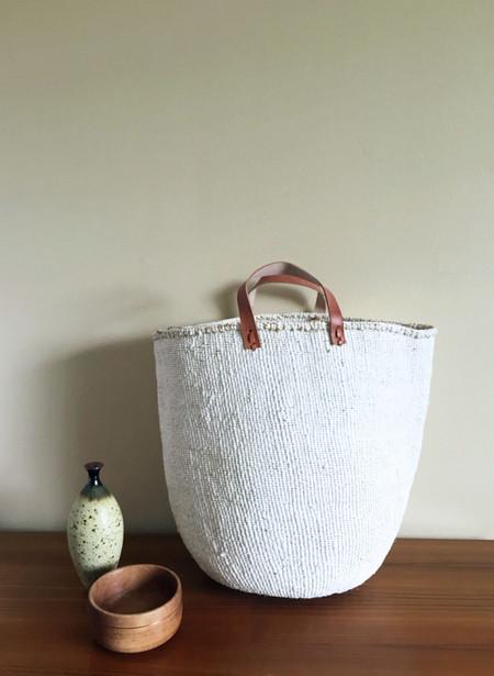 Mifuko Kiondo Large Basket - White