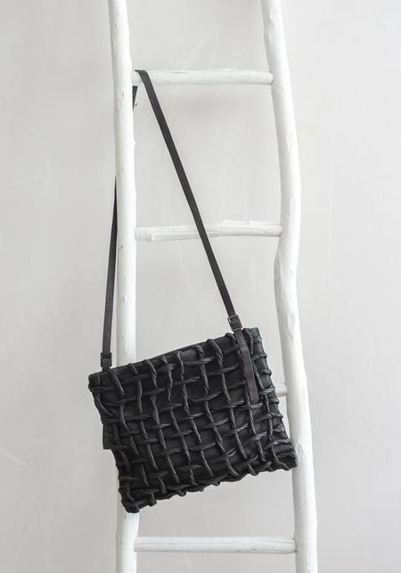 Nutsa Modebadze Woven Leather Clutch - Black