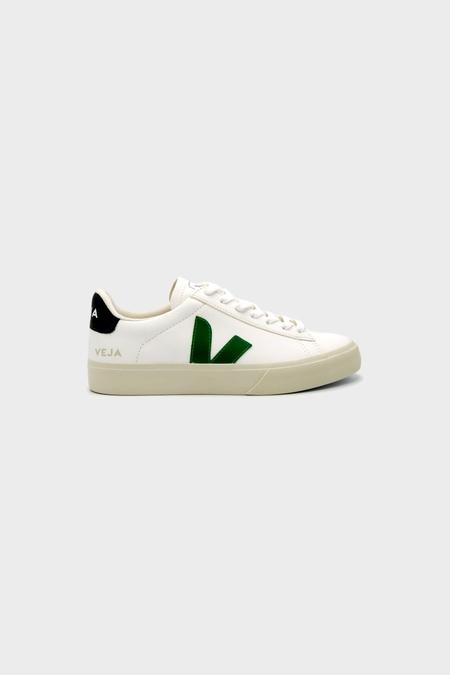 VEJA Campo Chromefree Leather Sneaker - Emeraud Black