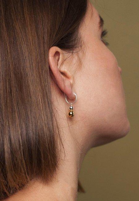 Jane Eppstein Opulence Earrings - half gold/silver