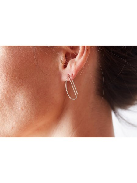 Lila Rice Deco Hoops - 14K Gold Fill