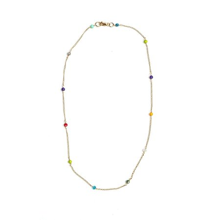 Luiny RAINBOW CHAIN NECKLACE - Gold fill