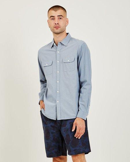 Alex Mill Chambray Double Pocket Shirt - Light Blue
