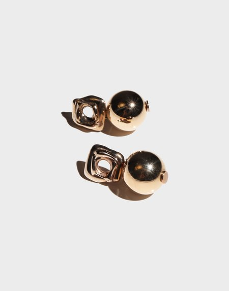 Modern Weaving Ball Drop Earrings