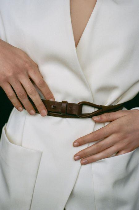 Modern Weaving Skinny Waist Wrap Belt - Black