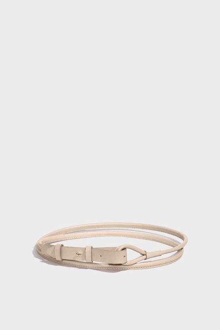 Modern Weaving Skinny Waist Wrap Belt - Putty